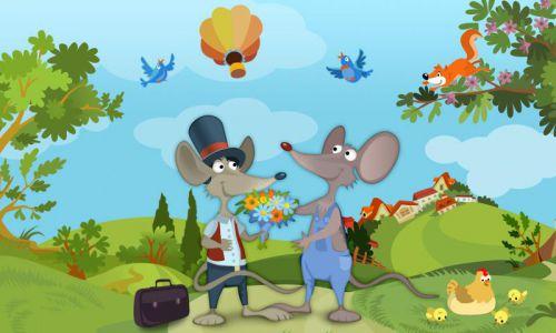 Historia del ratón de la ciudad y del ratón del país para niños Fuente de la imagen -> @ www.play.google.com